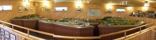 Model train panorama in the shape of PEI.