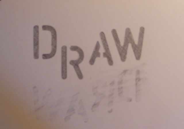 was to draw the word draw