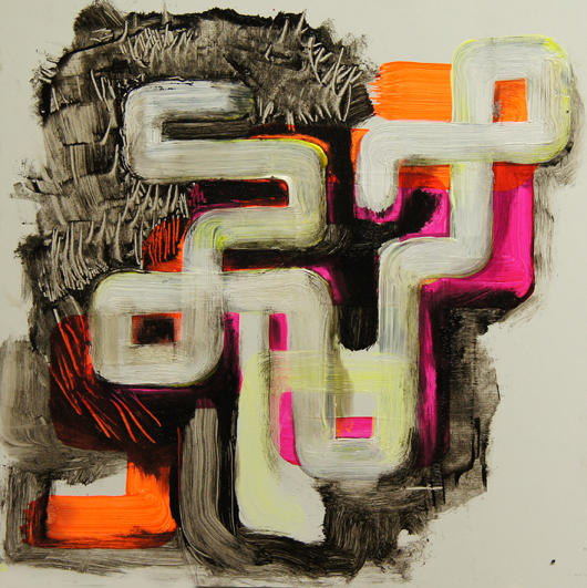 untitled (12-04) 2012 oil, acrylic on panel 10 x 10 in