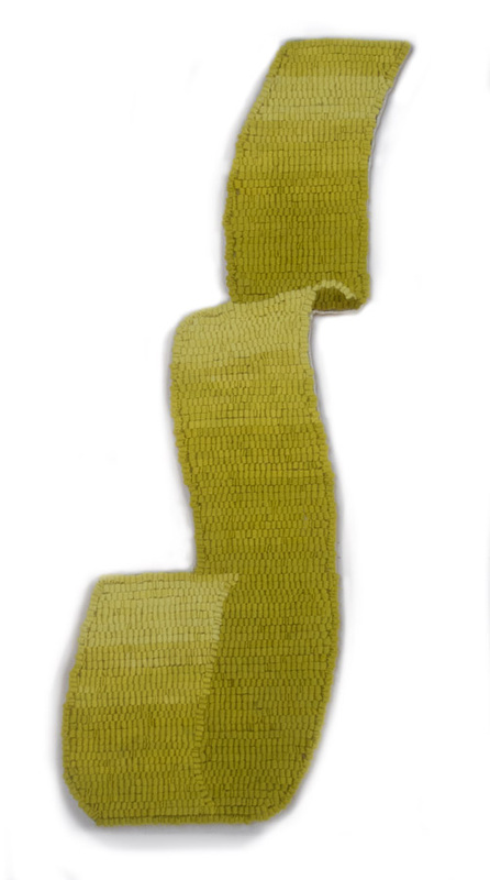 Chartreuse Ribbon, 2013, 22 1/2 x 8 1/2 in. Textile