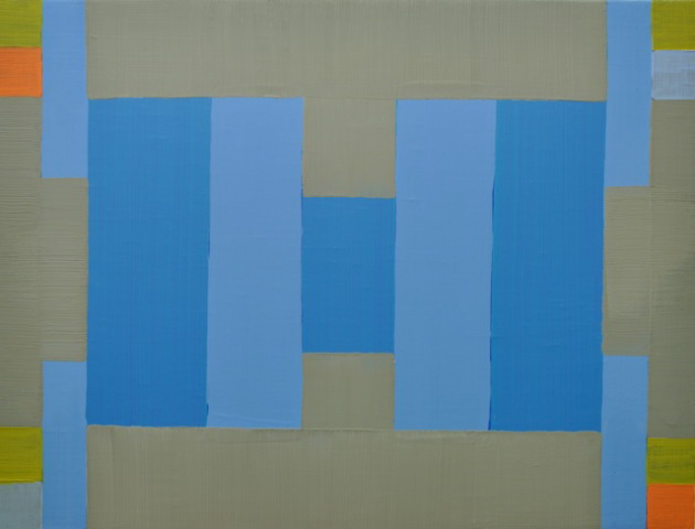 Rising to Square and Solid by Degrees, Oil on Linen, 20x26 inches, 2013.
