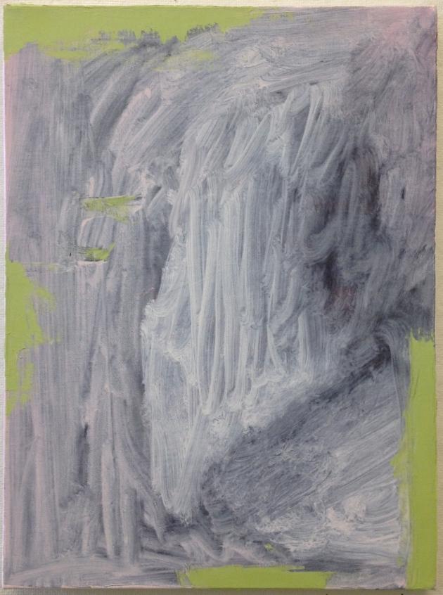 """Crossdown Dragit"" oil on linen 11″ x 18″ 2012"