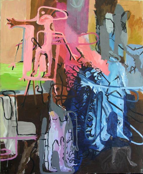 """""""Transmutation"""", Painting, Acrylic On Canvas, 2012, 145 x 185 x 4 cm"""