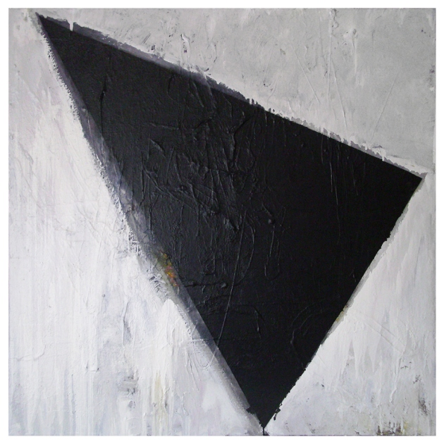 UNTITLED, Oil, Oil-based household paint, Spray paint on Canvas, 100 x 100 cm's, EC 2013