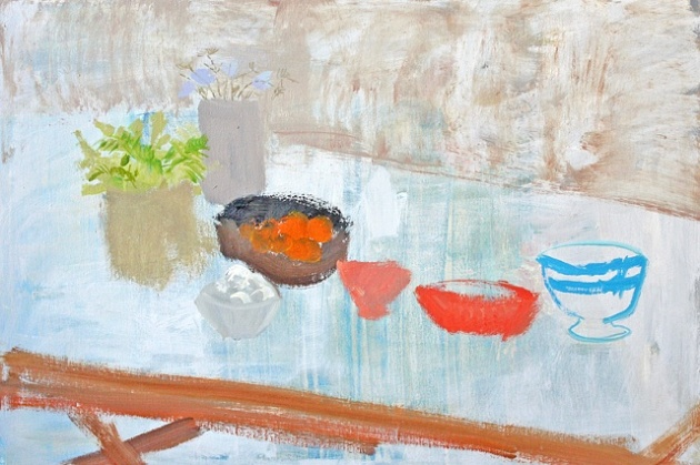 Red Bowl 2012 oil on canvas 24x36