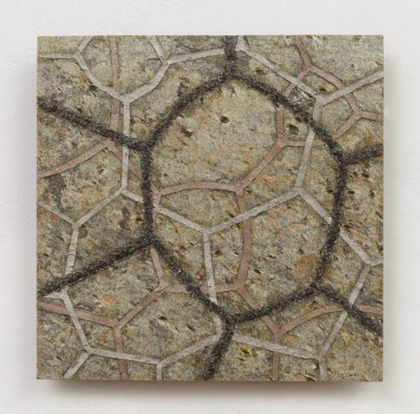 "Quartzite, bronze, zinc, nickel, copper, mica graphite, wax. 6"" x 6"" 2012"