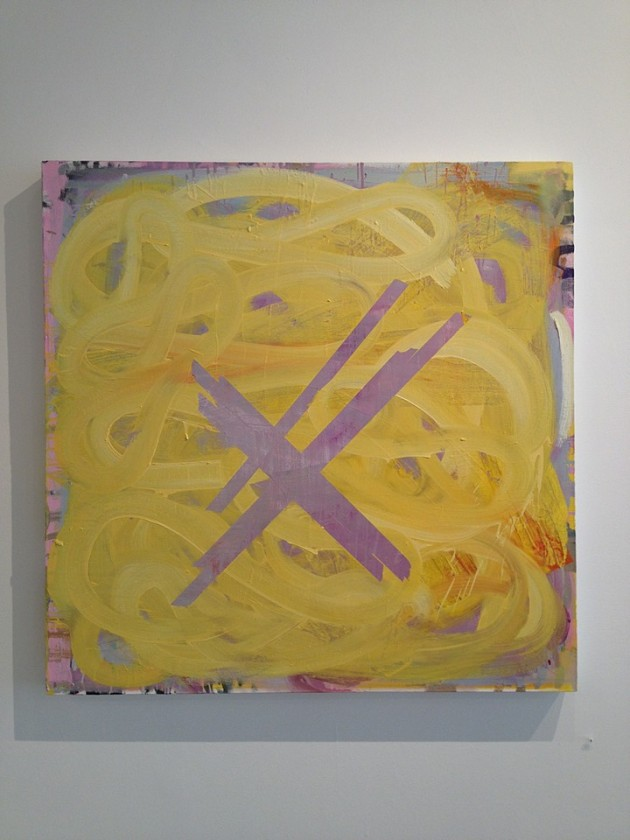 "Blossom yellow 2012 oil on canvas 36"" x 36"""