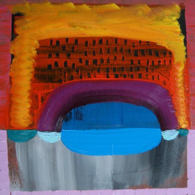 Submariner's Sunset Oil on Panel 40cm x 40cm x 4cm