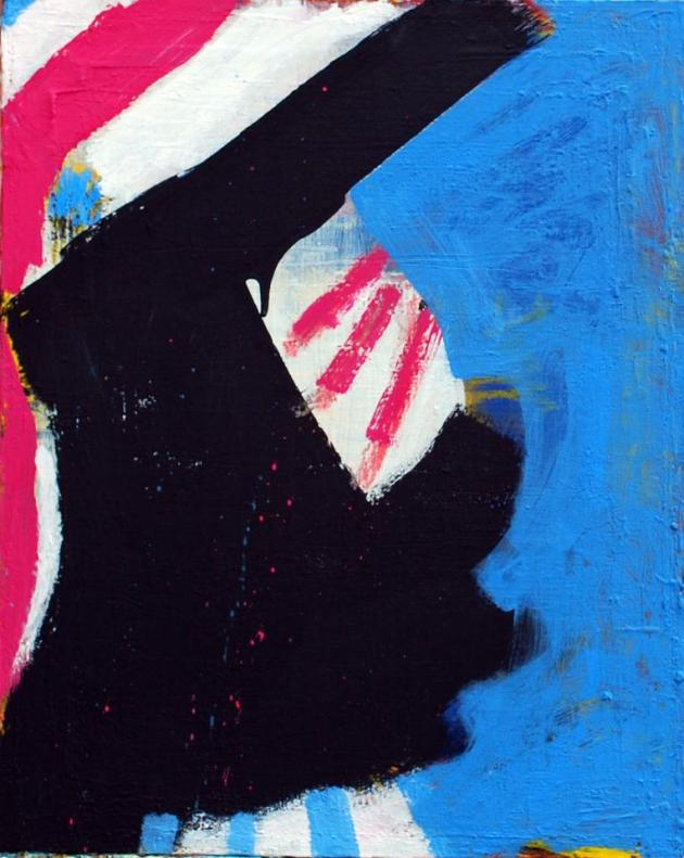 The Great American Empire 2, acrylic on canvas, 16x20 inches, 2013.