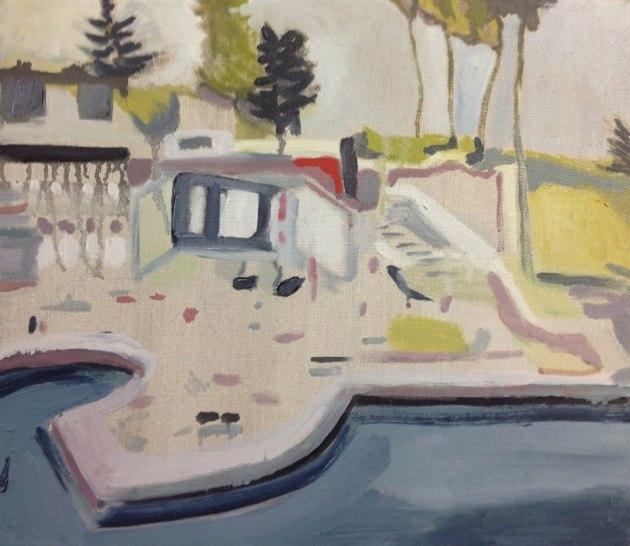 Resort, Oil on linen 41 x 46 cms