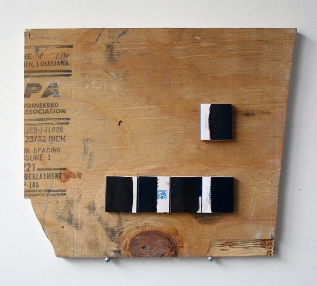 PA, plywood, painted match boxes, 2012/13