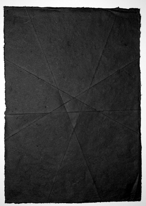 Black Metal 2007 Creased Paper 15.5 x 20 inches