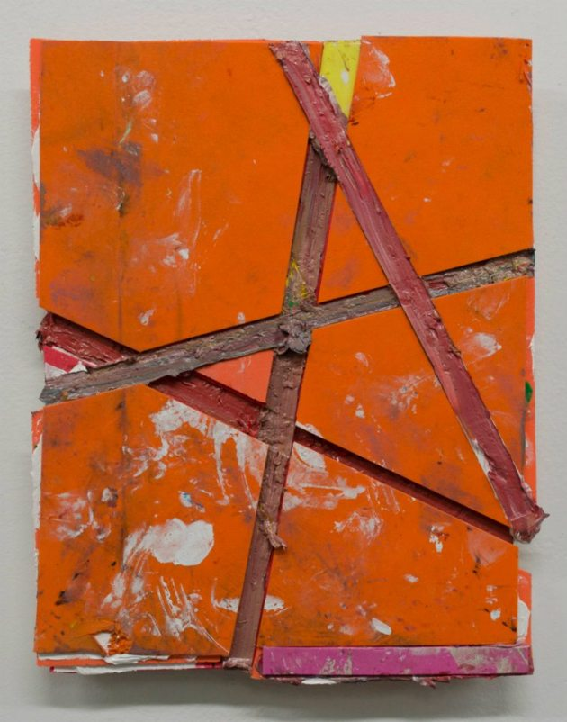 """Oil paint and rubber foam on board 10.5""""x8.5"""" 2012"""