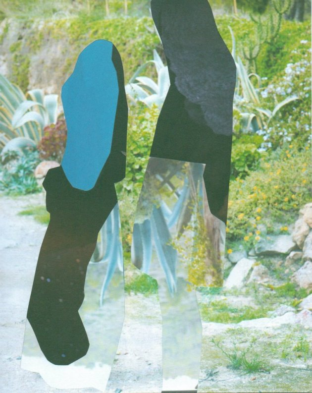 Negative Women's Fashion, - 2012  22 x 17 cm  collage on paper