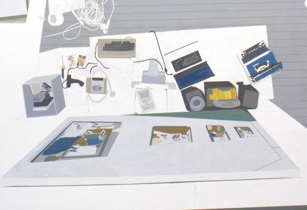 "NSCAD MFA Studio, detail of 2012 acrylic on canvas 72"" x 65"""