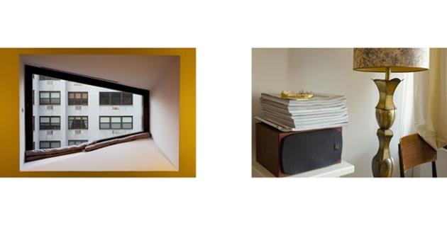 "Diptych: Whitney Museum Window/Scholar's Residence, New York University's Silver Towers, (work in progress). 2010 inkjet print 28"" x 60"""