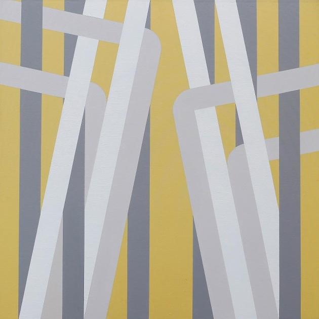 """Anyone seen Daniel Buren?"" 150x150 Acrylic on canvas 2012"