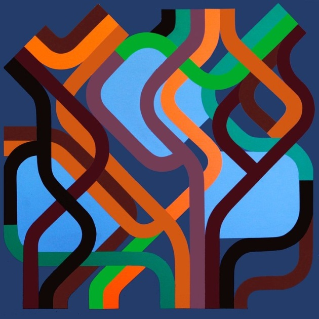"""""""Trees can't see the forest"""" 130x130 Acrylic on canvas 2011"""