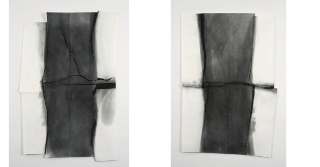 Normal Fault #2, 2009, 41.5 x 28.5 inches Normal Fault #1, 2009, 40.25 x 27.5 inches All works graphite on paper
