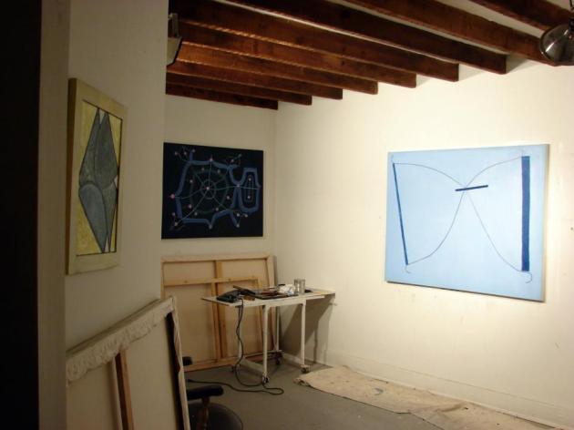 Mark Mulherrin's studio.