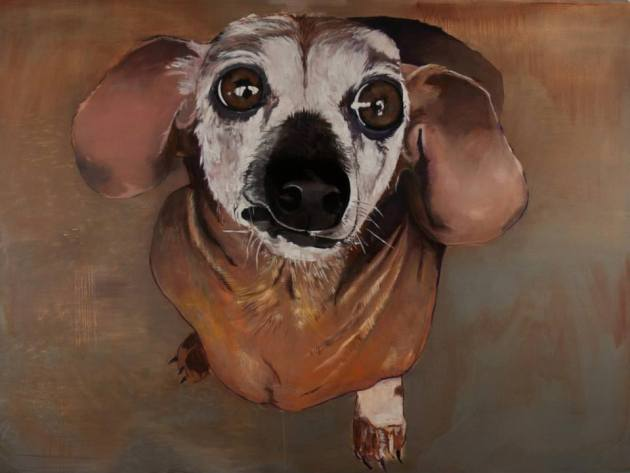 "Brian Frink, Josie, 2013 72""x96"" Oil on Canvas"