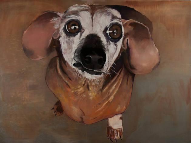 """Brian Frink, Josie, 2013 72""""x96"""" Oil on Canvas"""