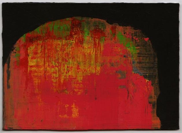 """""""5 x 7 x 7"""", 2012, acrylic on hardboard, 5"""" x 7"""""""