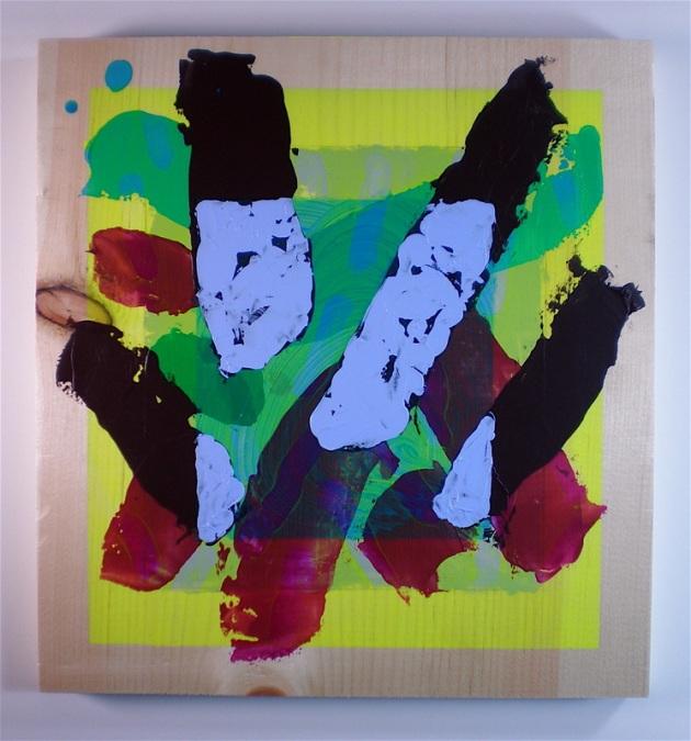 """PNL13"", 2013, acrylic on pine panel, 12"" x 12"""