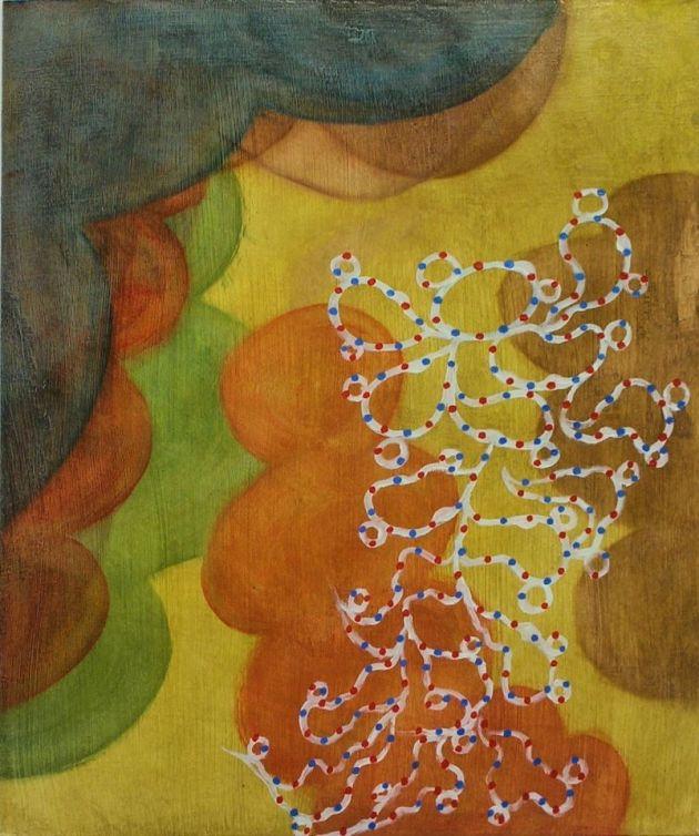 """""""Spotlight"""", 2012, oil/gessoed ragboard, 21""""-17.5""""."""