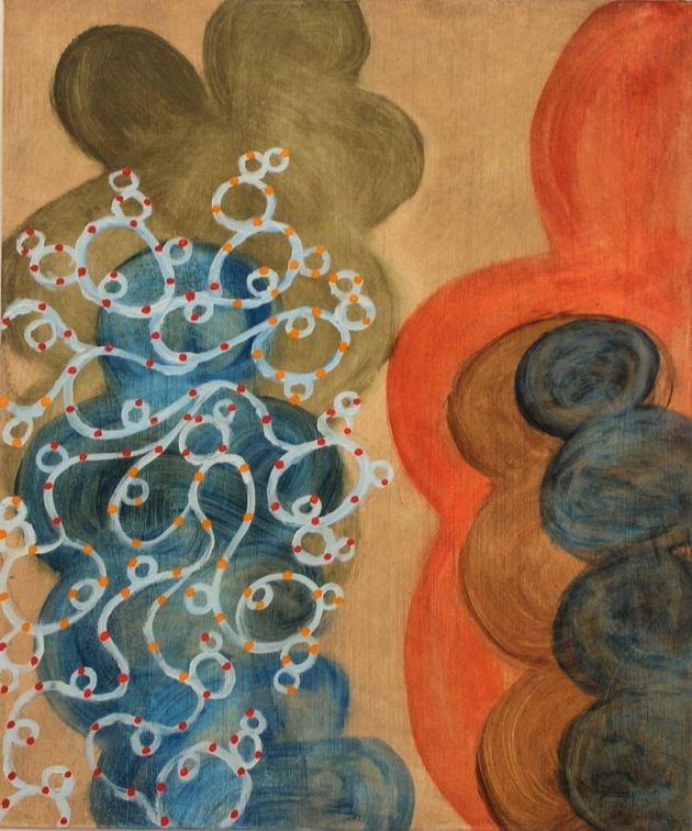 """""""Shadow Play"""", 2012, oil/gessoed ragboard, 21""""-17.5""""."""