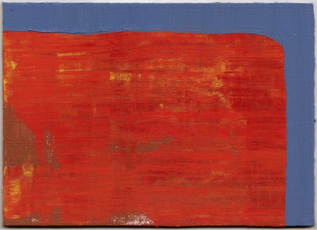 """""""5 x 7 x 16"""", 2012, acrylic on hardboard, 5"""" x 7"""""""