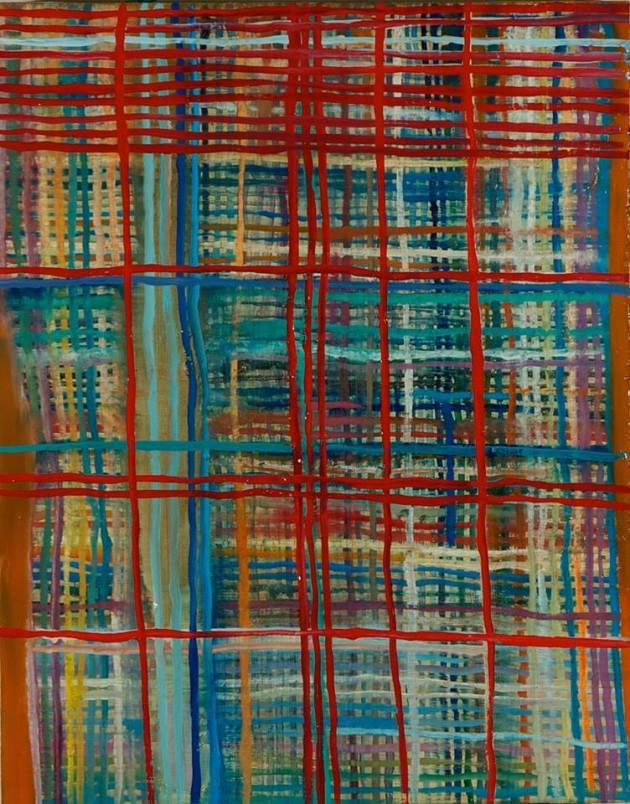 "Veil, 2013 14""x11"" Oil on Panel"