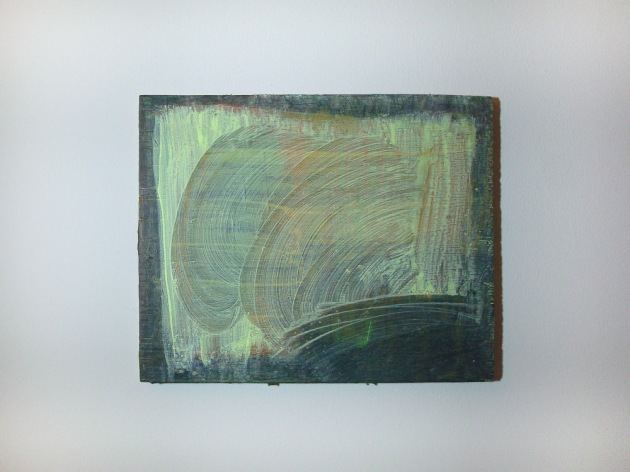 Lisa Denyer, Untitled  2013, acrylic on plywood 25cm x 30cm
