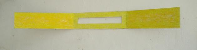 papiervorm van raufaserbehang (wall paper) 2x140x 2cm 2013.