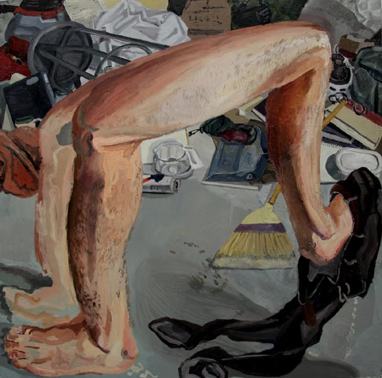 Le-Legs Trying To Fit In, oil, 2012.