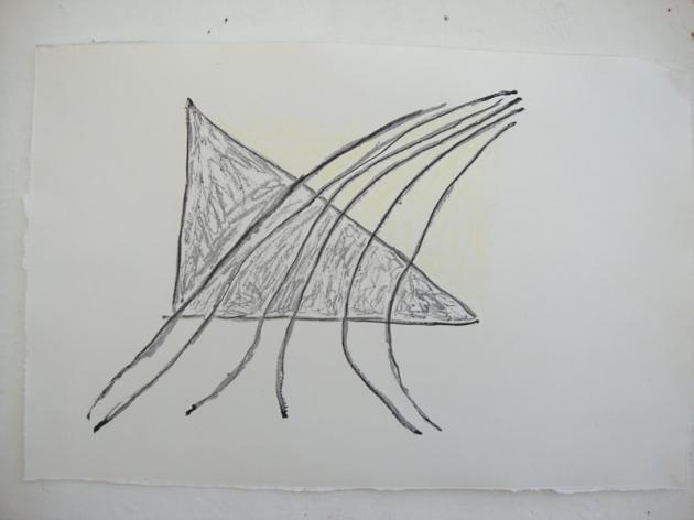 Monprint 65x 70cm 2013.