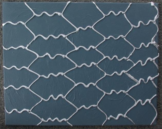 "Sean Montgomery, Chicken Wire, Acrylic on canvas, 20x16"" 2011"