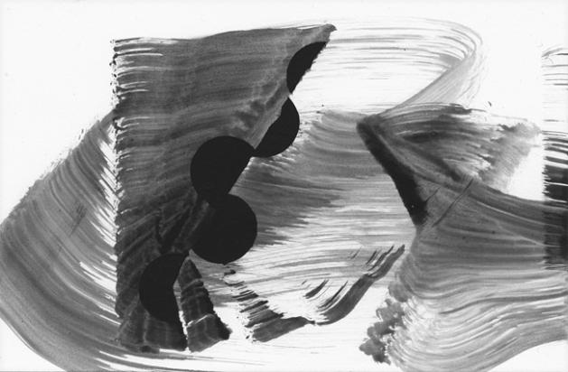 "#17, 2013, acrylic on paper, 4"" x 6"""