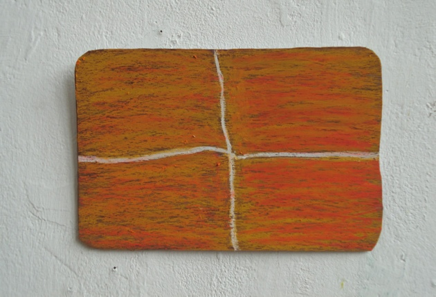 Hout, oilsticks (Wood, oilsticks) 6 x12cm 2012.