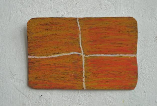 Hout, oilsticks (Wood, oilsticks) 6 x12cm 2012.