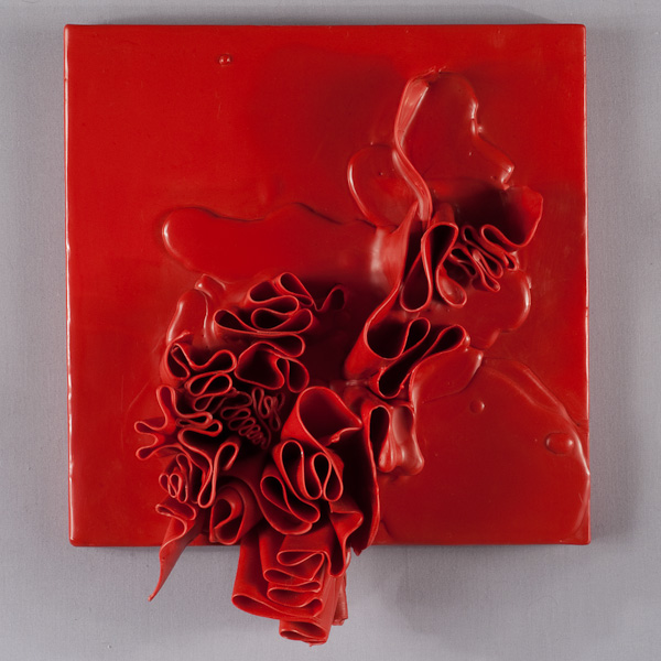 untitled 12.16, 10 x 12 x 4, wax on panel, natalie abrams 2012