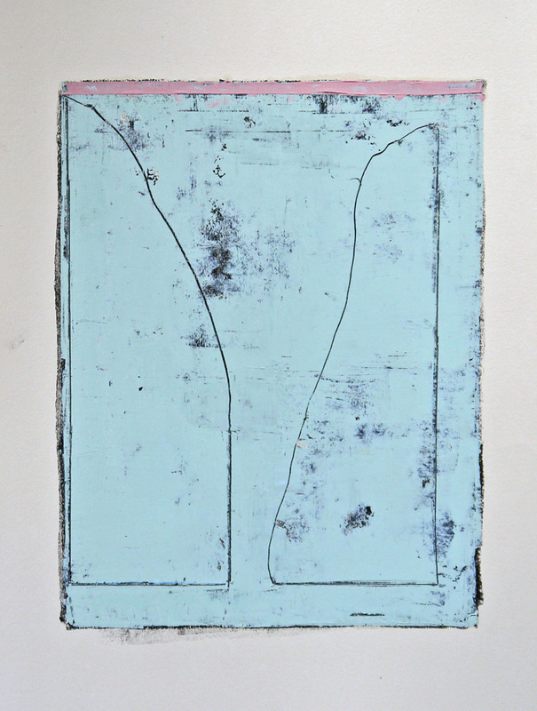 Untitled #6 Oil, oil based ink & graphite on paper 40 x 30 cm 2013
