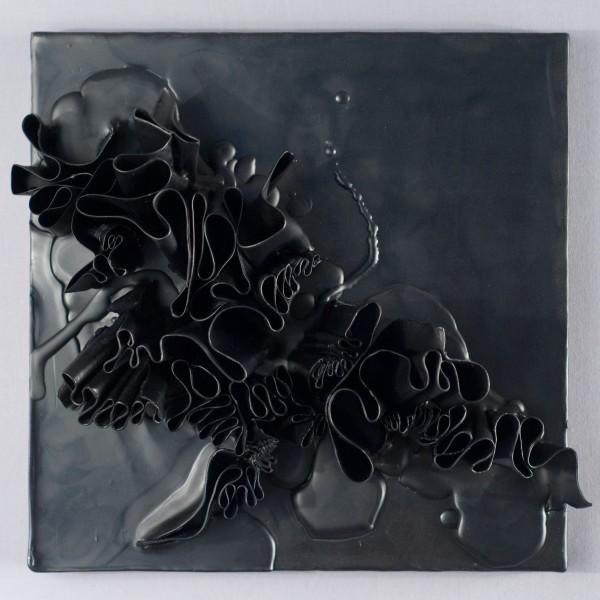untitled 12.13, 10 x 10 x 4, wax on panel, natalie abrams 2012