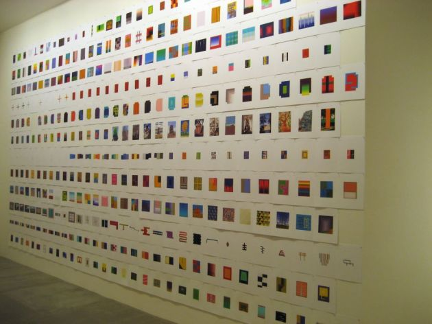 """365,"" 2008, 365 inkjet prints, David Cunningham Projects, 2008"