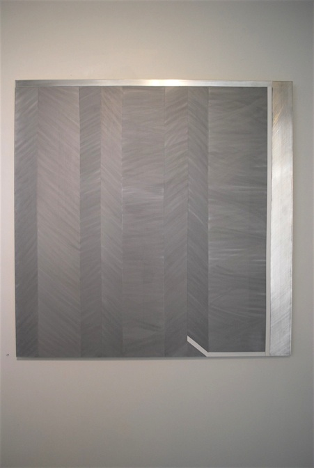 Pointing to the Grey, 2013 Acrylic, aluminium 800 x 800 mm