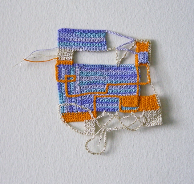 "flat flotsam crochet thread 6.5"" x 5.5"" 2009"
