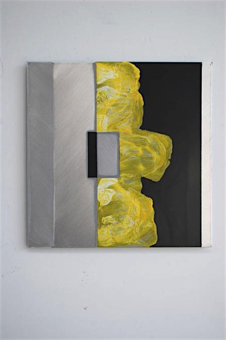 Leave Your Order, 2013 Acrylic, enamel, polymer, aluminium 400 x 400 mm