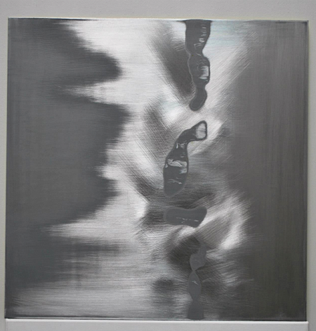 Down a Thin Thread, 2012 Acrylic, aluminium 600 x 600 mm