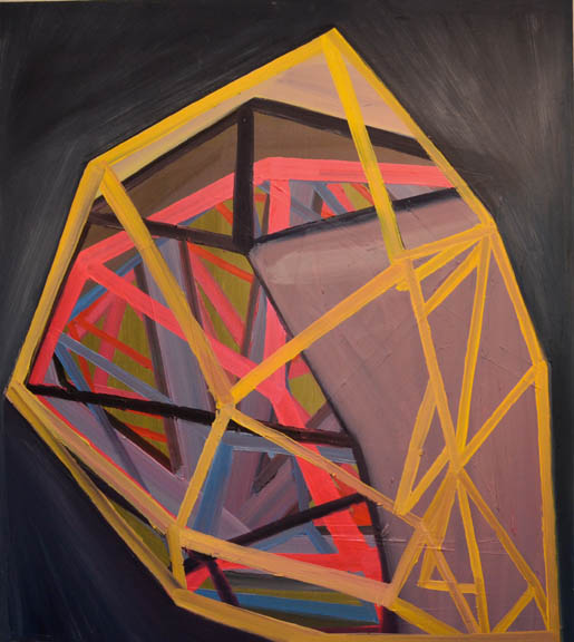 "The Prevailer, 2011, oil on panel, 38"" x 34"""