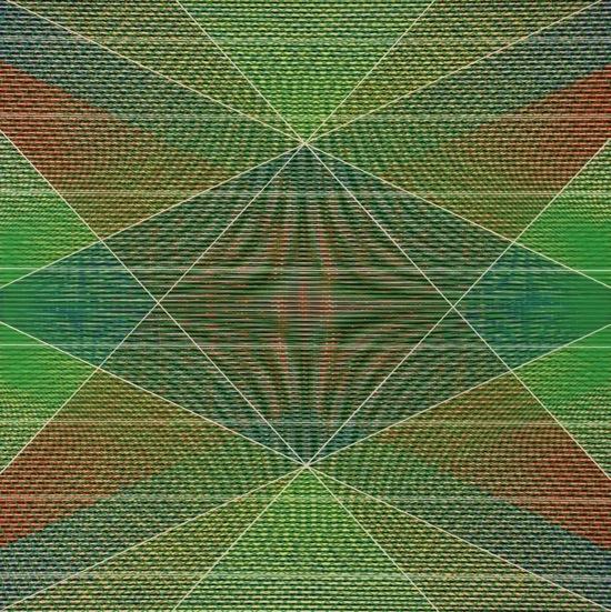 "Split Litmus - 2013 - oil on panel - 16"" x 16"""